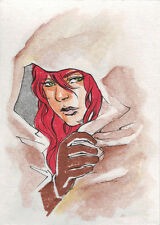 Breygent Red Sonja 2012 Sketch Card by MJ San Juan