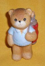 Darling Porcelain Lucy Rigg & Me Dad Golf Father Teddy Bear w/ Clubs Figurine