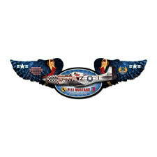 Vintage Style Metal Sign Aviation Mustang 10 x 35