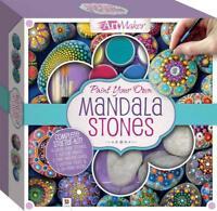 Childrens Craft Sets - Mandala Stones Kit - Includes Pebbles Paint & Brush