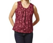 Ness Clothing Ladies Helena Red Tapestry Floral Top Size 16 - New - RRP £39.99