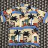 Vintage Ocean Pacific OP Button Up Hawaiian Surf Beach Shirt 80s 90s Large