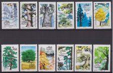 France 2018 : les 12 timbres du Carnet - Arbres - oblitérés