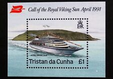 "Visit of ""Royal Viking Sun"" stamp sheet, 1991, Tristan da Cunha, SG ref: MS513"