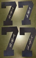 LOT OF 4 PUDGE RODRIGUEZ AUTOGRAPHED JERSEY NUMBERS #7