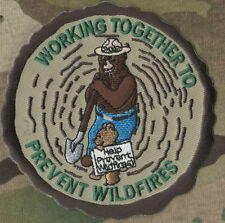 US FOREST FIRE FIGHTING KIDS PATCH - Smokey Bear: TOGETHER TO PREVENT WILDFIRE