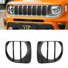 Car Headlight Decoration Cover Trim For Jeep Renegade 2019 2020 Car Accessories