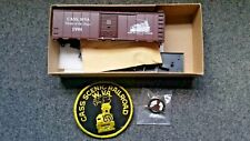 HO Scale Athearn Blue Box Cass Scenic 40ft Boxcar with Pin and Patch. 1998