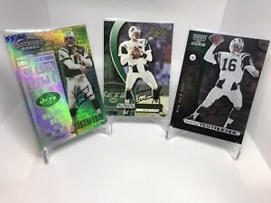 (3) LOT Vinny Testaverde Playoff 1999-00 On Card Auto & Serial Numbered JETS
