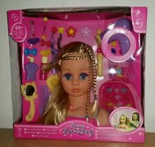 DREAM DAZZLERS STYLING HEAD BLONDE HAIR DOLL TOY HAIRDRESSER ACCESSORIES ☆NEW☆