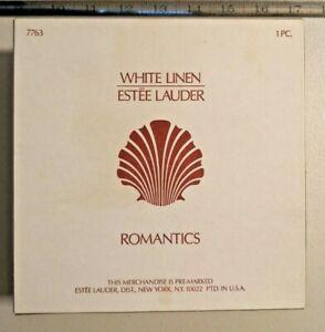 Vintage White Linen Romantics 2.14 oz PARFUM Estee Lauder Atomizer/Funnel -- 278