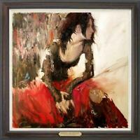 "Hand-painted Oil painting art Original Impressionism girl on Canvas 30""x30"""