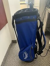 Callaway Golf Bag - 5-way dividers, blue & black, retractable stand, USED