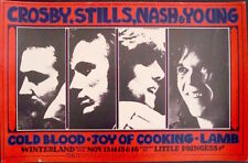 CSNY NEIL YOUNG BG 200 FILLMORE concert poster 1969 RANDY TUTEN BILL GRAHAM