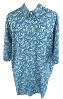 Reyn Spooner Mens XL Green Floral Button Front Hawaiian Aloha Shirt