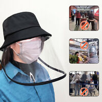 Fisherman Cap + Protective Clear Mask Saliva-proof Dust-proof Sun Visor Hat IR