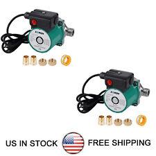 Pack Of 2 Npt34 Hot Water Recirculating Pump 93w Circulation Pump 115v Ss304