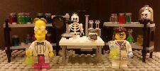 Lego NEW Custom Scientist Lab w/ Female Scientist, Prof. Frink, Shelves And Jars