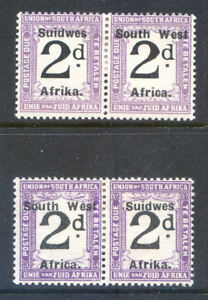South West Africa 1927 2d Postage Due mint pair (2018/06/01#03)