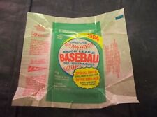 1984 OPC O-Pee-Chee Baseball Wax Pack Wrappers