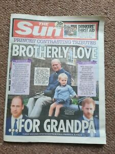 PRINCE PHILIP DUKE OF EDINBURGH THE SUN NEWSPAPER APRIL13TH
