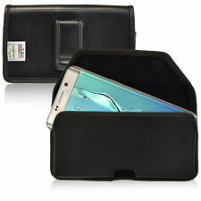 New Galaxy S6 Edge Plus Holster Turtleback Leather Pouch Belt Case Belt Clip