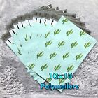 100 Designer Printed Poly Mailers 10X13 Shipping Envelopes Bags MINT CACTUS