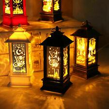 Ramadan Laterne Lampe Eid Mubarak LED Licht muslimische Ornament Party Hänge Dek