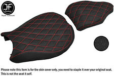 DSG4 GRIP RED ST CUSTOM FOR DUCATI 848 1098 1198 FRONT REAR VINYL SEAT COVERS