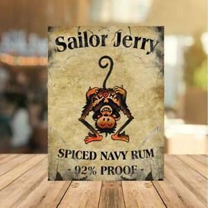 Sailor Jerry Vintage Metal Sign Pub Bar Man Cave Beer fUNNY Party Garden Tiki