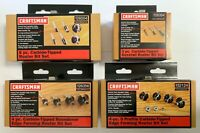LOT OF 4 CRAFTSMAN CARBIDE TIPPED ROUTER BIT SETS 9-26004 9-26356 9-32124 26354
