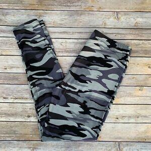 Gray Camouflage Women's Leggings PS Plus Size TC 12-20
