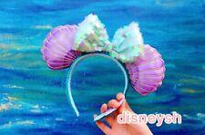 Shanghai Disney Parks Princess Mermaid Green Ear Headband Hairband NEW