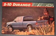 1989 Chevrolet S-10 Durango Pickup Truck Postcard Brochure Excellent Original 89