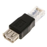 Connettore adattatore di rete Ethernet LAN RJ45 maschio a USB2.0 A femmina 10 /