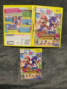 Cover Art Manual & Yellow Case ONLY Mario & Sonic London 2012 Olympic Games Wii
