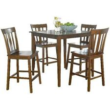 5 Piece Counter Height Table Chairs Dining Set Kitchen Pub Breakfast Stylish NEW
