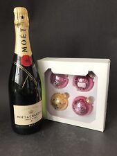 Moet Chandon Imperial Brut Champagner 0,75l 12% Vol + 4 Moët Weihnachtskugeln