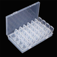 Clear Plastic 28 Slots Adjustable Jewelry Storage Box Case Organizer Container