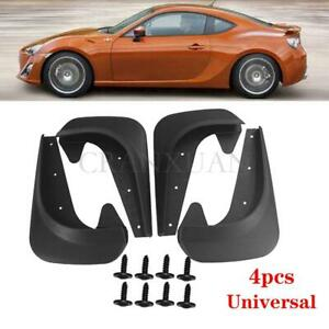 4Pcs High Grade  Plastic Fender Splash Guards Mud Flaps Mudflaps For Car SUV