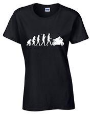 Evolution of BIKER T-Shirt cycle Rider Bike Motorbike xmas gift womens ladies