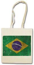 BRAZIL FLAG HIPSTER BAG - Stofftasche Stoffbeutel Jutebeutel - Brasilien Brasil