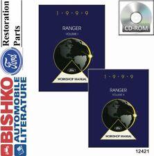 Bishko OEM Digital Repair Maintenance Shop Manual CD for Ford Truck Ranger 1999
