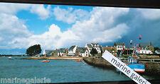 ile maison bretonne déco Bretagne marine mer poster photo couleurs panoramique