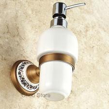 Wall Mount White Ceramic Bottle Liquid Soap Dispenser Holder Bath Hardware Soap