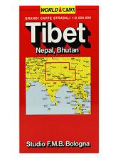 TIBET NEPAL BHUTAN CARTINA STRADALE 1:2.000.000 [CARTA/MAPPA/POSTER] F.M.B.
