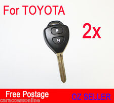 2x 2BUTTON Remote Key Shell case for Toyota Camry Corolla RAV4 Hilux Yaris