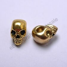 Tibetan Silver, Gold, Bronze, Charms Skull Loose Spacer Beads 12X8MM CW40