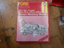 Ford Fiesta Mk1 950, 1100, 1300, 1600 XR2 1976-83 Haynes Workshop Manual