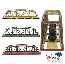 WWS Single Track N-Gauge Gray MDF Railway Camelback Bridge 200mm